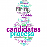 Word art about the hiring process