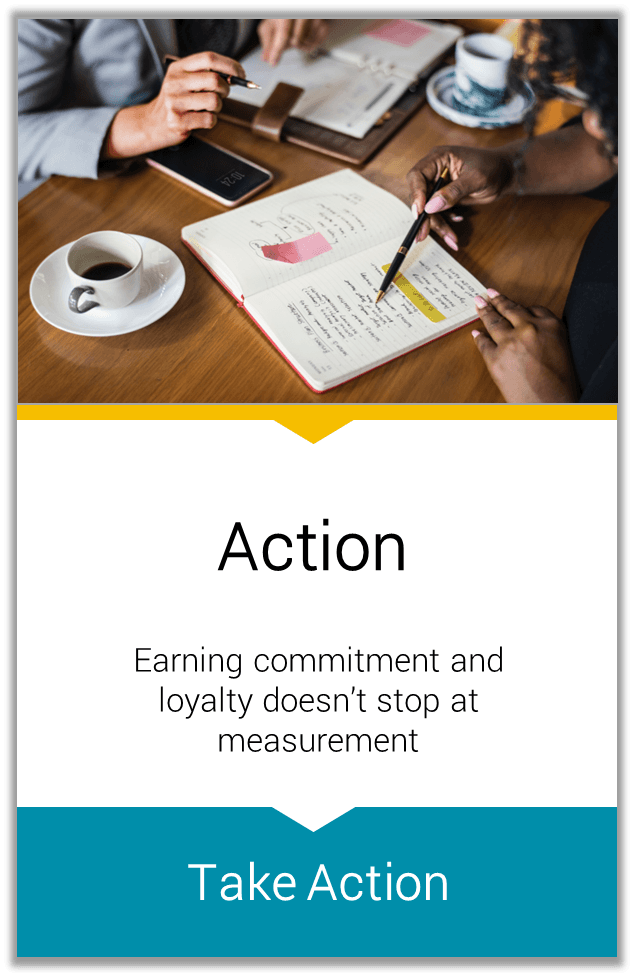 Action Earning commitment and loyalty doesn't stop at measurement