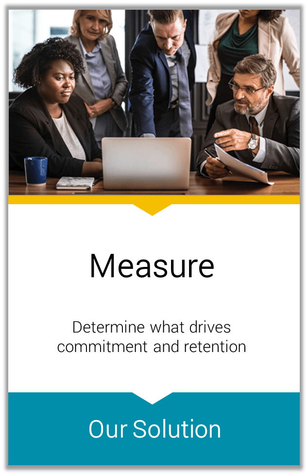 Measure Determine what drives commitment and retention