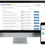 CorvirtusHire Job Board View