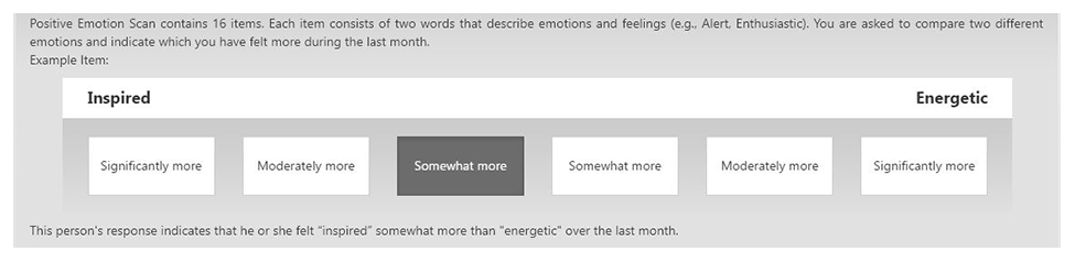 Pre-Employment Assessment Sample of Positive Emotion Scan