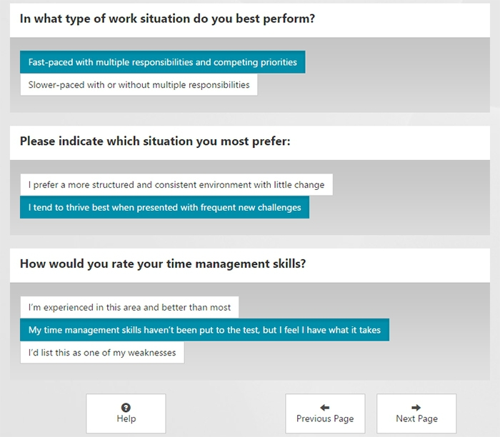 Corvirtus sample assessment-style realistic job preview