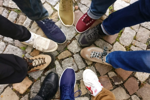 10 Different legs with different pairs of pants and style of shoes