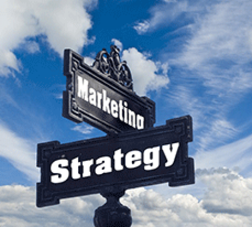 Marketing and Strategy street signs